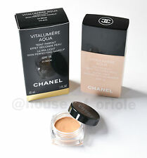 **100% AUTHENTIC** CHANEL VITALUMIERE AQUA FOUNDATION SPF 15 **SAMPLE SIZE**