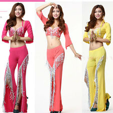 New Advanced Customization New Belly dance costume suit outfit  bra+blouse+pant