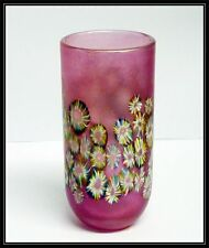 Isle of Wight studio glass vase-pink