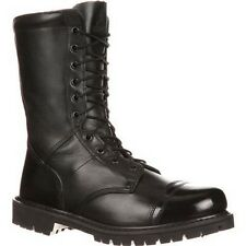 """Mens Rocky 10"""" Zipper Black Paraboot Leather Tactical Duty Boots Size 7-14 2090"""