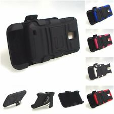SAMSUNG GALAXY S II S2 T989 BLACK RUGGED CASE COVER BELT CLIP HOLSTER+STAND