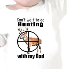 "Kids ""Can't Wait to go HUNTING WITH DAD"" Future Deer Hunter Youth Infant T-Shirt"