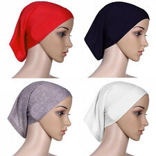 Islamic Muslim Women's Head Scarf Cotton Underscarf Hijab Cover Head Wrap Bonnet