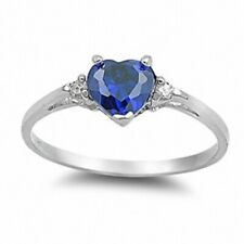 Promise Wedding Engagement Ring 925 Sterling Silver 0.50CT Sapphire Russian CZ