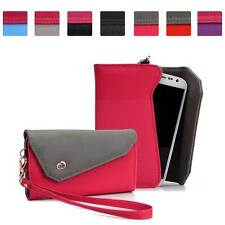 Womens Link Wallet Case Clutch Cover for Smart Cell Phones by KroO CRWL2