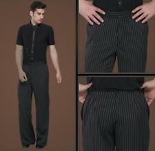 Men's stripes Ballroom Latin Dance Loose Stage Costume Modern Practice Pants