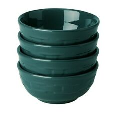 Longaberger Woven Traditions Pottery Dinnerware 4 Soup Salad Bowls TEAL NEW /RTS