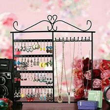Earrings Ear Studs Necklace Jewelry Display Rack Metal Stand Organizer Hot!