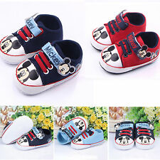 Toddler Kids Boy Baby Girls Mickey Mouse Crib Shoes Sneakers Prewalkers Trainers