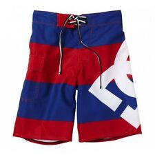 """DC SHOES """"LANAI"""" BOARD SHORTS TRUNKS (STRIPED) (RED/BLUE) -FREE SHIPPING-"""