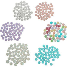 50x Round Shape Flatback Resin Beads Rhinestone Cabochons Embellishment DIY 12mm