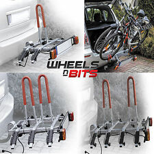 CAR TILTING PLATFORM 2,3,4 BIKE CYCLE RACK towball tow bar ball mounted carrier
