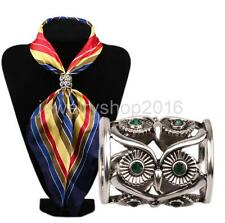 Vintage Women's Scarf Ring Clip Slide Buckle Owl Shape Fashion New