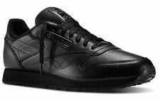 J90119 REEBOK CLASSIC BLACK/BLACK LEATHER RUNNING MEN SHOES SNEAKERS C