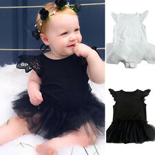 Princess Baby Girl Dress Lace Tulle Bodysuit Romper Jumpsuit Outfits Sunsuit