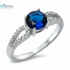 Solitaire Wedding Engagement Ring 925 Sterling Silver 1.10Ct Sapphire CZ