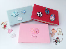 Baby or Toddler Photo Album for 6x4 photos- blue, pink or red. Choice of motifs.
