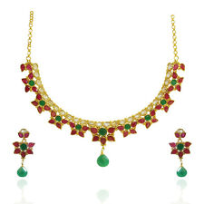 Indian Ethnic Antique Classy Gold Bollywood  Designer Polki stones Necklace sets
