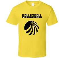 Rollerball Sci-Fi Cult Classic Movie Retro 1975 T-Shirt James Caan Yellow Tee