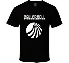 Rollerball Sci-Fi Cult Classic Movie Retro 1975 T-Shirt James Caan New Black Tee