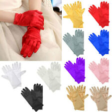 Fashion Ladies Wedding Bridal Formal Evening Party Stretchy Satin Short Gloves