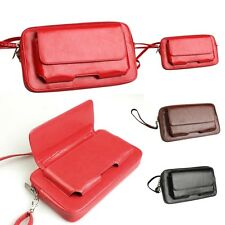 Ladies Men's Genuine Leather Wallet Zipper Chain Coin Purse Credit Card New