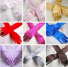 Evening Party Gloves Opera Long Gloves Prom Bridal Costume Satin Wedding