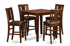 5 Piece pub table set-counter height table and 4 Stools.