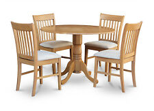 5 Piece small kitchen table set-round kitchen table and 4 dining chairs.