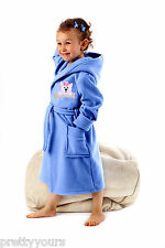 Luxury Boys'/Girls' Soft Bathrobe Dressing Gown, Housecoat with Belt and Hood