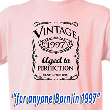 """20th BIRTHDAY OLD WESTERN COWGIRL PINK T-Shirt """"Vintage 1996 Aged To Perfection"""""""