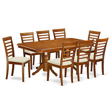 9 Piece Dining Room Table Set Dining table with a Leaf and 8 Dining Chairs