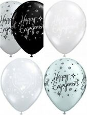 "6  Qualatex 11"" Engagement Latex Helium Quality Balloons Assorted Design"