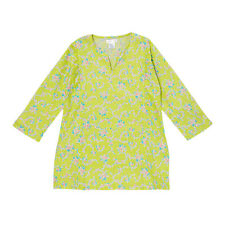 KC Signatures Soft Casual Cotton Girls Green Floral Top Tunic Shirt Tank
