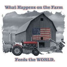 What Happens on The Farm  Feeds the World   Tshirt    Sizes/Colors