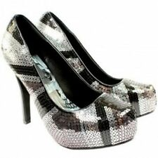 Iron Fist - Jacked Up -  Black & Silver Sequin Platform - Brand New Shoes