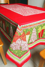 """84""""X60"""" Rectangle Cotton Table Cloth Table Cover Christmas Red For Kitchen 140"""