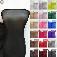 "Power Mesh 4 Way Stretch Nylon Lycra Spandex Fabric 63"" Wide Dancewear Swimwear"