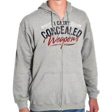 I Carry Concealed Weapons 2nd Amendment Right to Bear Arms Gun Zipper Hoodie
