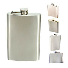 Stainless Steel Whisky Liquor Alcohol Pocket Hip Flask Funnel AD
