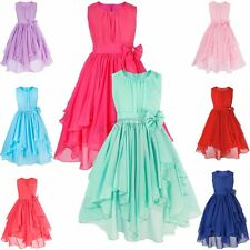 Pageant Flower Girl Dress Kids Birthday Wedding Bridesmaid Gown Formal Party