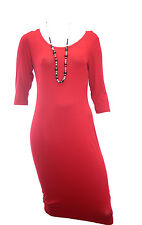 Ladies Ex Oasis Deep Red bodycon Party Tube Dress