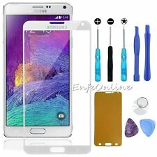 For Samsung Galaxy Note 4 Front Outer Screen Glass Lens Replacement White / Tool