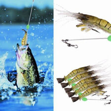 5pcs/Lot Night Luminous Soft Shrimp Lures Fishing Lure Crankbaits Tackle 10cm