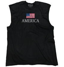American Flag Eagle Pride Patriotic USA T Shirt Gift Ideas Sleeveless Tee