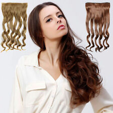 5clips 1piece/set hairpiece clip in hair extensions heat resistant curly 120g
