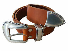 Premium Real Leather Buffalo leather Belt GEO38 in 3 colours Western Unisex new