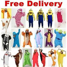 Hot Unisex Adult Pajamas Kigurumi Cosplay Costume Animal Onesie Sleepwear - NEW
