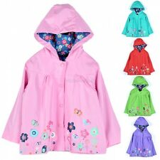 School Children Girls Waterproof Hooded Rain Coat Outwear Poncho Raincoat MDWK