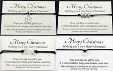 Merry Christmas Wish Bracelet Friendship Family Colleague Student Friend Gift
